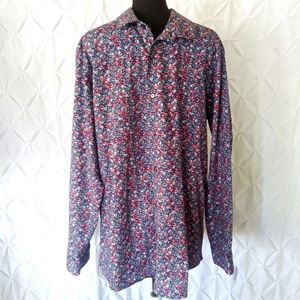 Apt. 9 floral button front shirt